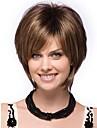Capless högsta kvalitet syntetiska korta bruna blandade färger rakt hår peruk för kvinnor