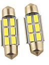 Carking ™ Festoon 36mm-5630-6SMD Car LED Rom Lampa Vit Light (12V/2PCS)