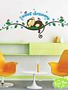 zooyoo® amovible colorés singes mignons dorment sur la branche 3d sticker mural décor à la maison stickers muraux pour enfants / salon