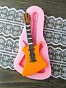 gitarr fondant tårta choklad harts lera godis silikonform, l10.6m * w5.3cm * h0.9cm