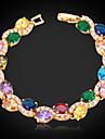 lyx kvinnor 18k guld platina armband av hög kvalitet aaa + zirkon cubic zirconia utsökta smycken gåva