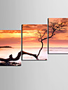 Stretched Canvas Art Landskap till Touch The Sky Set om 3