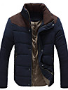 Langtuo Men's Fashion Contrast Color Coats