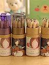 Cartoon Girl Pattern 12 Color Painting Pencil Set(12 PCS/Set)