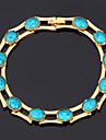 nya högkvalitativa turkos sten armband armband 18k guld platina armband smycken gåva för kvinnor