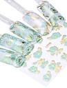 24 ark varmprägling blå blommor Design 3d blommig nail art klistermärken dekaler dekorationer