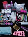167pcs pro nail art uv akryl pulver gel spets pensel Clipper verktygssats