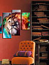 Toiles tendues Art Lion Animal Set de 4