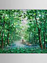 HANDMÅLAD Landskap En panel Kanvas Hang målad oljemålning For Hem-dekoration