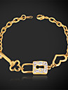 U7 kvinnors armband fantasi 18k guld platina