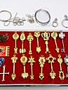 Mer accessoarer Inspirerad av Fairy Tail Cosplay Animé Cosplay Accessoarer Nyckelring Guld Legering Man / Kvinna