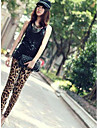 femei de mătase lapte jambiere leopard-print