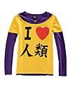 Inspiré par No Game No Life Cosplay Manga Costumes de Cosplay Cosplay à Capuche Imprimé Jaune Violet Manche Longues Manches Ajustées Pour