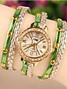 vallmo kvinnors eleganta hela matchen oäkta pärla armband klocka