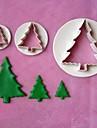 3pcs modèles gâteau Stamper Fondant arbre de noël