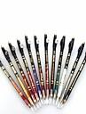 professionell 24 timmars bestående vattentät färgglada flytande eyeliner penna med penna sharpener12 st