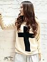 pulover cruce de imprimare pentru femei (mai multe culori)