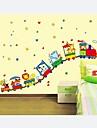 stickers muraux autocollants de mur, les enfants avec les trains décoration pépinière pvc stickers muraux