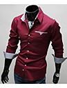 cămașă bărbați manlodi lui căptușeală check model slim-montaj