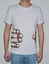 col rond de style coréen mode embrayages d'impression T-shirt d'o de lesen hommes