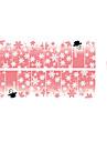 yemannvyou®14pcs mode rosa jul snö nail art glitter klistermärke s1184