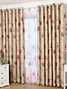 Un Panneau Le traitement de fenêtre Rustique Néoclassique Européen Moderne Chambre à coucher Polyester Matériel Rideaux occultants rideaux