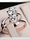 mode de vente chaude simples zircon anneau blanc de j1666 des femmes