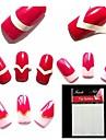 540st nagel linjer målning tips dekaler verktyg s filer&implementerar för french nagel konst dekorationer