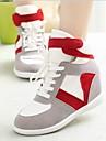 Chaussures Femme - Décontracté - Noir / Rouge / Gris - Talon Compensé - Confort / Bout Arrondi - Baskets à la Mode - Toile