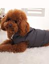 Hundar Kappor Väst Grå Hundkläder Vinter Enfärgat Håller värmen