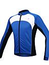 SANTIC® Veste de Cyclisme Homme Manches longues Vélo Garder au chaud Pare-vent Doublure Polaire Zip frontal Veste Maillot Hauts/Tops