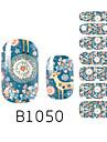 yemannvyou®14pcs rêve de mode style cerf B1050 autocollant nail art paillettes