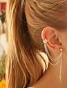 Pentru femei Cercei cu Clip Cercei Cătușe pentru urechi Personalizat European La modă Argilă Aliaj Leaf Shape Bijuterii PentruPetrecere