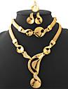 match costume de bijoux de cadeau de boîte féminin est en or 18 carats plaqué cristal bijoux cadeau pour les femmes de haute qualité