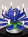 plast spinning musikalisk födelsedag blomma ljus