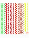 Fluorescence Cute Nail Art Sticker Decals Nail Accessory for Acrylic Nail Tips DIY Nail Art DecorationsNO.KT114