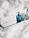 Badrumshylla Rostfritt stål Väggmonterad 56.7*14.25*5.5cm(22.32*5.61*2.17inch) Rostfritt stål / Glas Modern