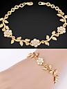 gulliga kvinna 18k guld platina snygga kedja armband armband strass kristall för kvinnor av hög kvalitet