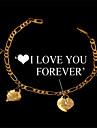 söt stämpel jag älskar dig för evigt hjärtan charm armband 18k guld platina smycken gåva för kvinnor