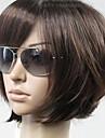 perruques brunes vogue droites courtes synthétiques de la femme