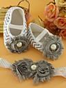 Chaussures bébé Informel Coton Ballerines Noir/Rouge/Rose/Gris/Vert