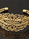 kvinnors coola vintage ihåliga blomma armband 18k chunky guld platina manschetten armband armband för kvinnor