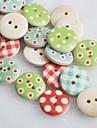 couleur album dessin scraft coudre des boutons en bois de bricolage (10 pièces couleur aléatoire)