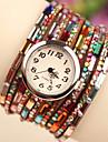 vallmo kvinnors vintage färgglada pärla armband klocka