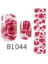 yemannvyou®14pcs rêve de la mode rose Nail Art Glitter b1044 autocollant
