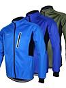 Arsuxeo® Veste de Cyclisme Homme Manches longues VéloEtanche Respirable Garder au chaud Pare-vent Design Anatomique Doublure Polaire