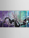 Peint à la main A fleurs/Botanique Plus de Cinq Panneaux Toile Peinture à l'huile Hang-peint For Décoration d'intérieur