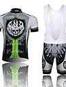 West biking Maillot et Cuissard à Bretelles de Cyclisme Homme Manches Courtes Vélo Cuissard à bretelles Collant à Bretelles/Corsaire