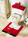 3 st jul badrum tillbehör, 1st toalettsitsen 1st toalettpappershållare 1st bath mat