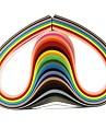 120pcs 3mmx53cm papier quilling (24 pcs couleur x5 / couleur) de bricolage décoration d'art
